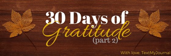 30 Days of Gratitude Challenge – Part 2