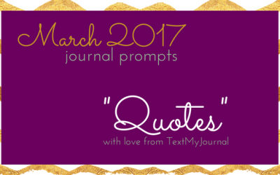 March Journal Prompts – 2017