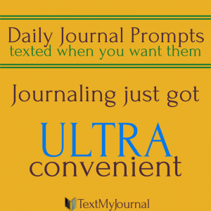 Journal prompts texted daily