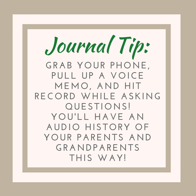 Journal Tip Personal History